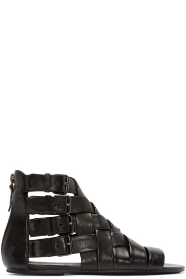 Marsèll - Black Braided Gladiator Arsella Sandals