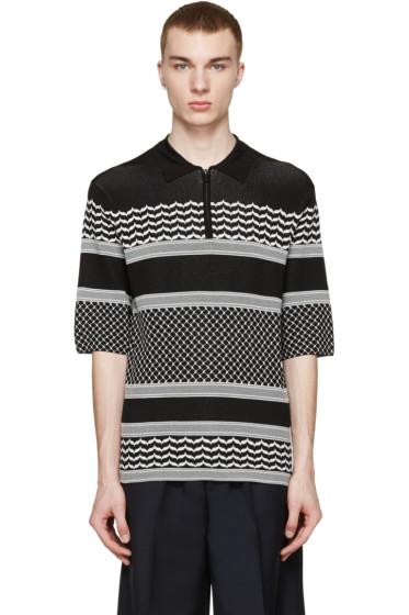 Neil Barrett - Black & White Knit Polo