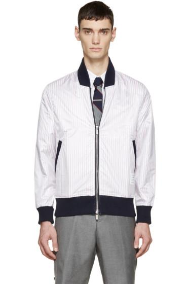 Thom Browne - Tricolor Nylon Layered Bomber Jacket