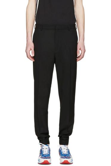 Kenzo - Black Wool Elasticized Trousers