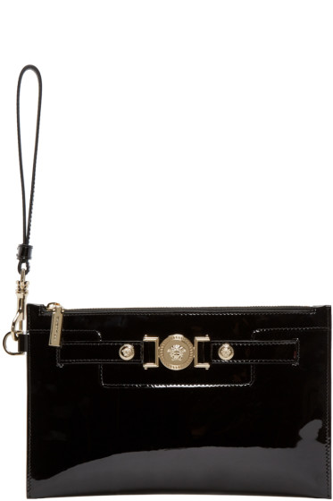 Versace - Black Patent Leather Medusa Pouch