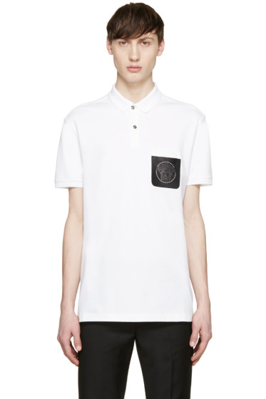 Versace - White Medusa Pocket Polo