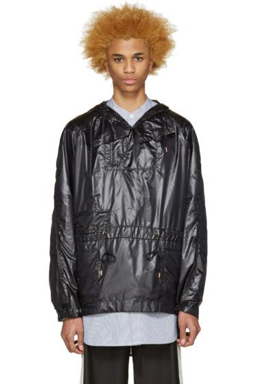 Sasquatchfabrix - Black Nylon Pullover Jacket