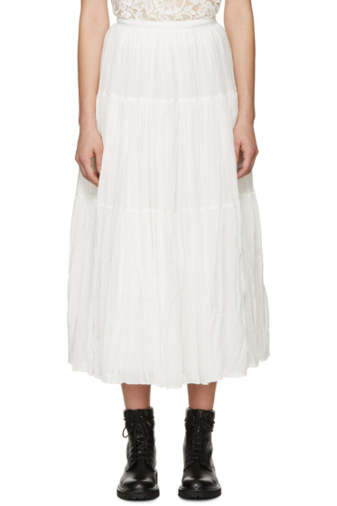 Saint Laurent - White Tiered Skirt