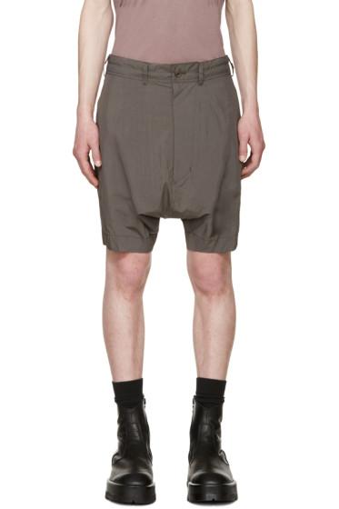 Julius - Grey Poplin Shorts