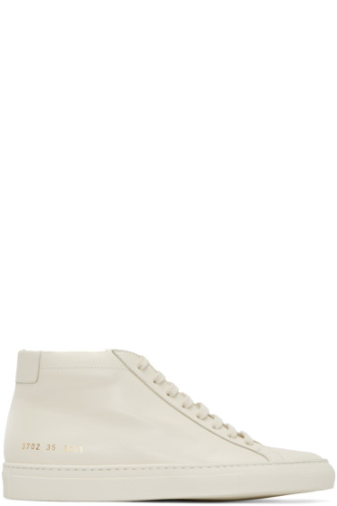 Woman by Common Projects - Off-White Original Achilles Mid-Top Sneakers