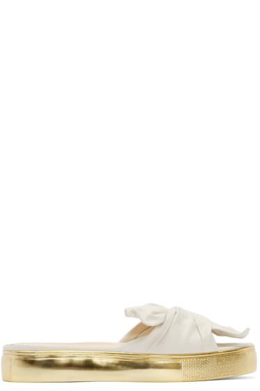 Charlotte Olympia - Off-White Poolside Slider Sandals