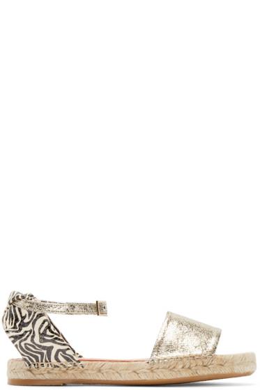 Charlotte Olympia - Silver & Zebra Mischevious Espadrilles
