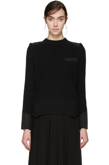 Sacai - Black Knit Layered Sweater