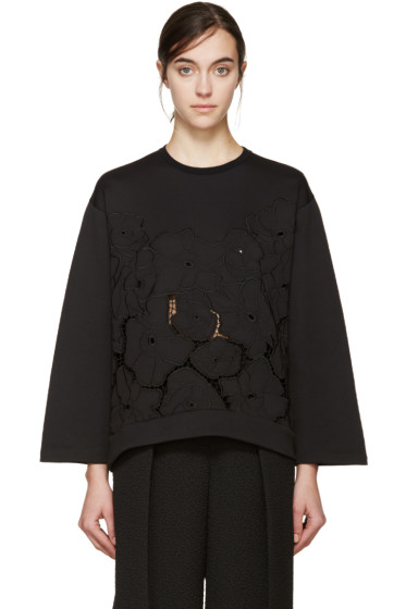 Stella McCartney - Black Broderie Anglaise Pullover
