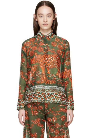 Valentino - Green & Orange Rhino Shirt