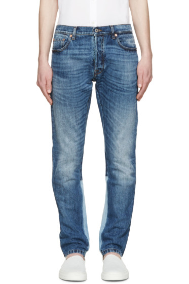 Valentino - Blue Colorblocked Jeans