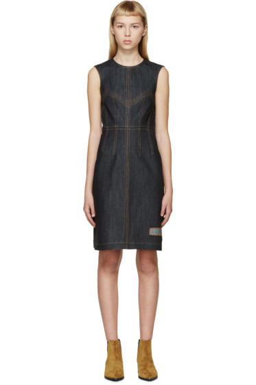 J.W. Anderson - Navy Denim Topstitched Dress