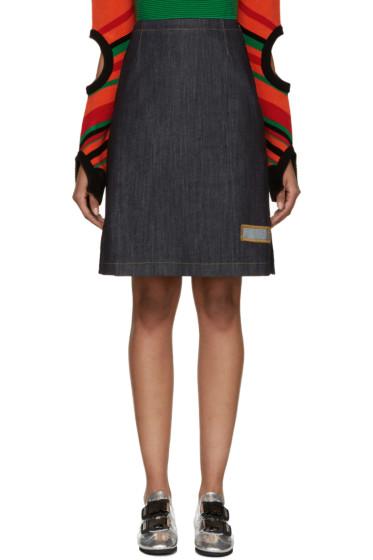J.W. Anderson - Blue Denim A-Line Skirt