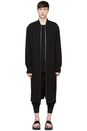 Thamanyah - Black Long Jersey Coat