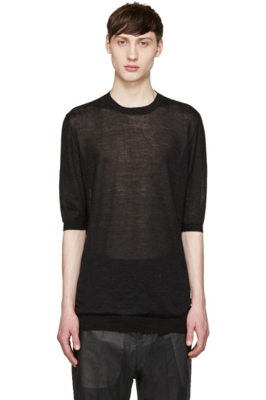 Thamanyah - Black Cashmere Sweater