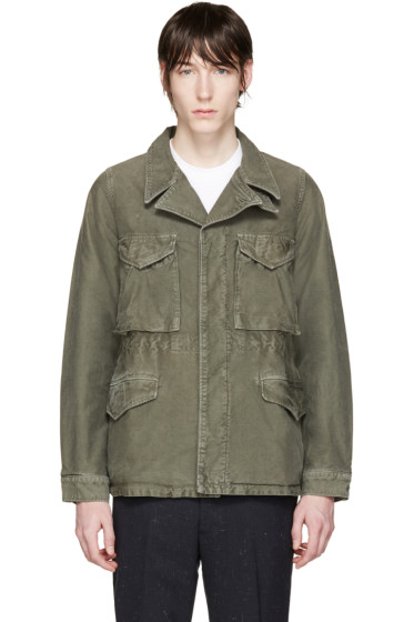 Visvim - Green Damaged Military Jacket