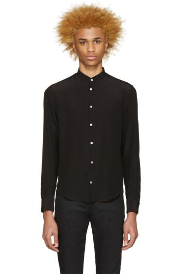 Costume National - Black Crepe De Chine Shirt