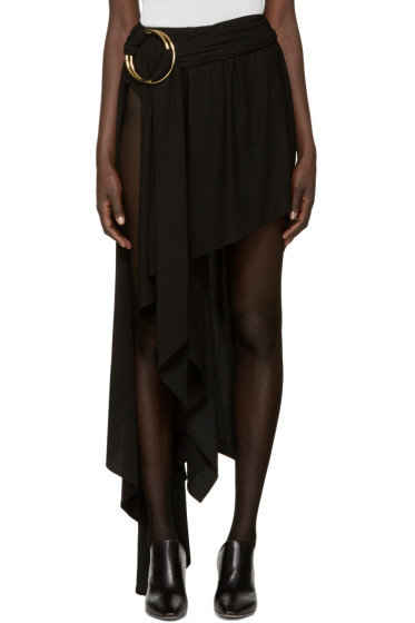 Anthony Vaccarello - Black Asymmetric Double Hoop Skirt