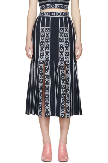Peter Pilotto - Navy Index Knit Skirt