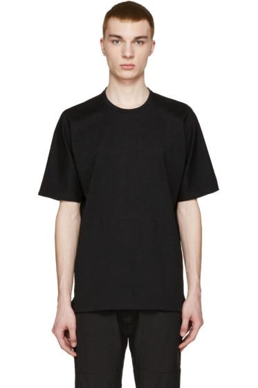 08Sircus - Black Loopwheel Terry T-Shirt