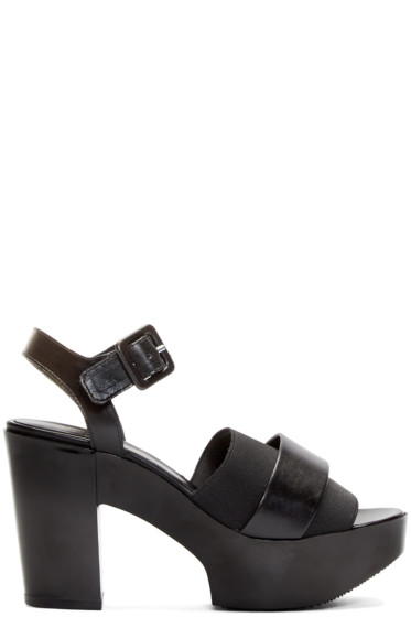 Robert Clergerie - Black Heeled Culturk Sandals