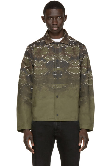 Marcelo Burlon County of Milan - Green Printed Banes Jacket