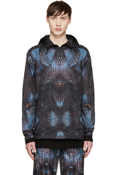 Marcelo Burlon County of Milan - Black & Blue Potosi Windbreaker Jacket