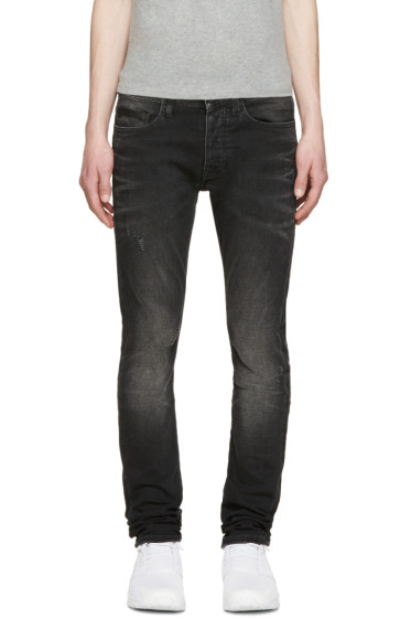 Marcelo Burlon County of Milan - Black Slim Stone Jeans