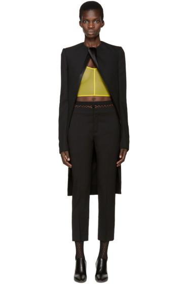 Haider Ackermann - Black Wool Draped Orbai Blazer