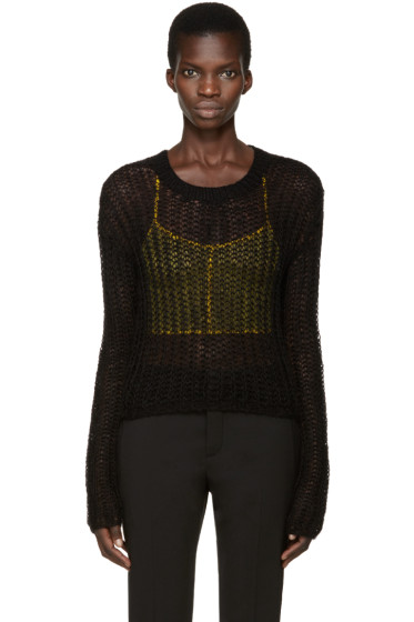 Haider Ackermann - Black Open-Knit Sweater