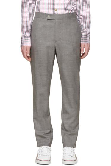 Moncler Gamme Bleu - Grey Wool Classic Trousres