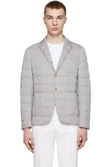 Moncler Gamme Bleu - Grey Quilted Down Blazer