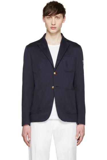 Moncler Gamme Bleu - Navy Cotton Distressed Blazer