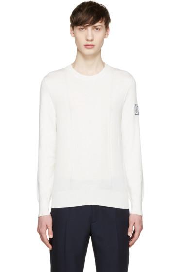 Moncler Gamme Bleu - Cream Knit Cotton Pullover