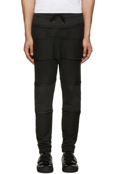 Alexandre Plokhov - Black Panelled Lounge Pants