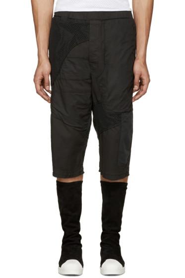 Alexandre Plokhov - Black Patchwork Shorts