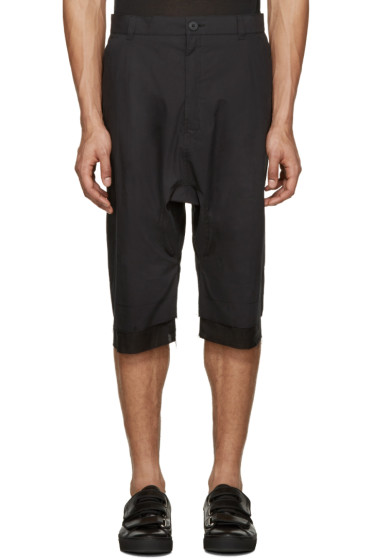 Alexandre Plokhov - Black Double Cuff Shorts