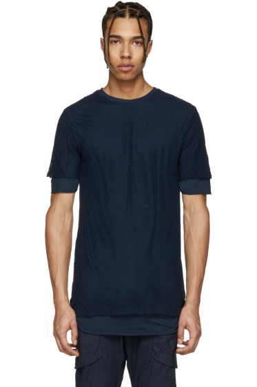 Alexandre Plokhov - Navy Layered Mesh T-Shirt