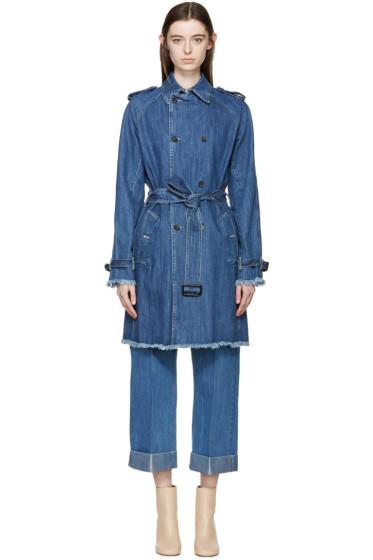Each x Other - Blue Frayed Denim Coat
