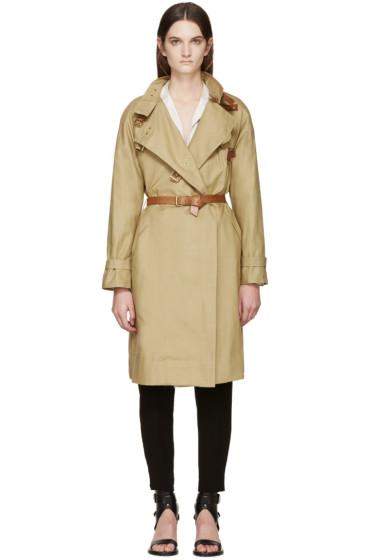 Isabel Marant - Beige Canvas Hanya Trench Coat