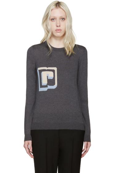 Paco Rabanne - Grey Wool Intarsia R Pullover