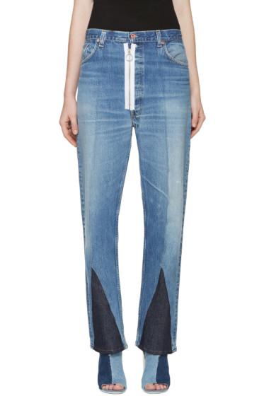 Off-White - Blue Split Levi's Edition Jeans