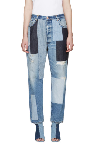Off-White - Blue Patchwork Levi's Edition Jeans