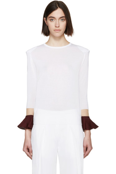 Toga - White Floating Sleeve Sweater