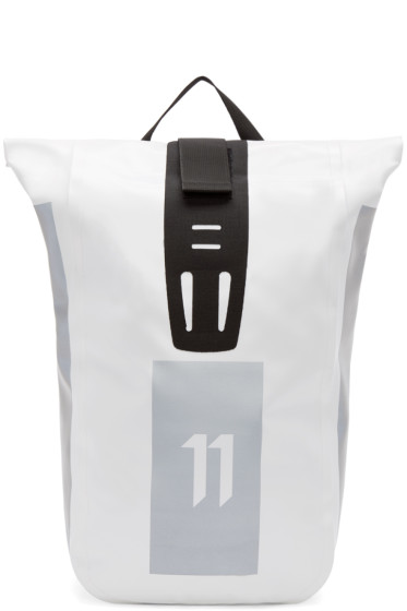 11 by Boris Bidjan Saberi - White Roll-Top Velocity Backpack