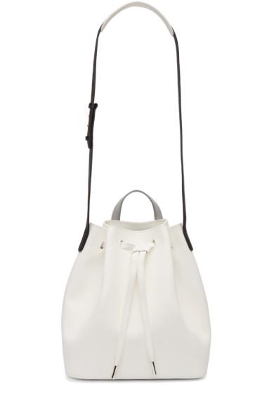 PB 0110 - White Leather AB 16 Bag