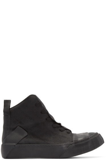 Boris Bidjan Saberi - Black Leather Bamba 1 High-Top Sneakers