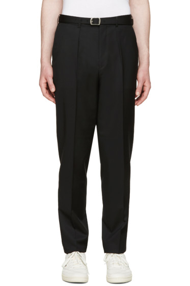 Johnlawrencesullivan - Black High-Rise Trousers