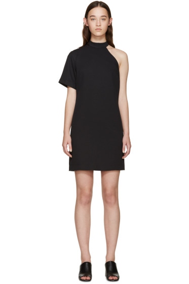 Nomia - Black Cut-Out Shoulder Dress